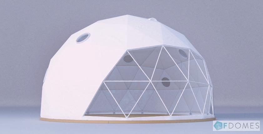 グランピングドームテント採光窓追加オプション